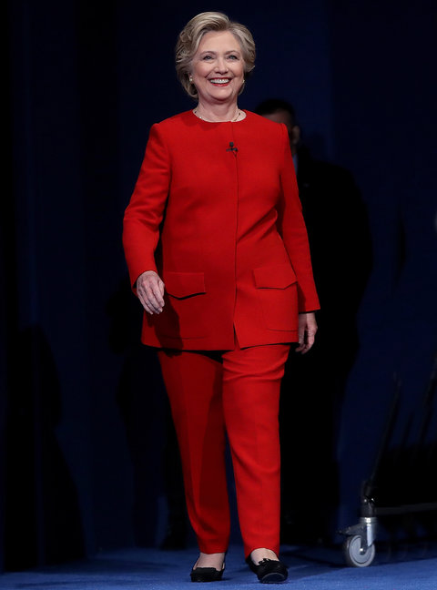 HEMPSTEAD, NY - SEPTEMBER 26: Democratic presidential nominee Hillary Clinton walks on stage before the start of the first presidential debate at Hofstra University on September 26, 2016 in Hempstead, New York. Tonight is the first of four debates for the 2016 election - three presidential and one vice presidential. (Photo by Justin Sullivan/Getty Images)