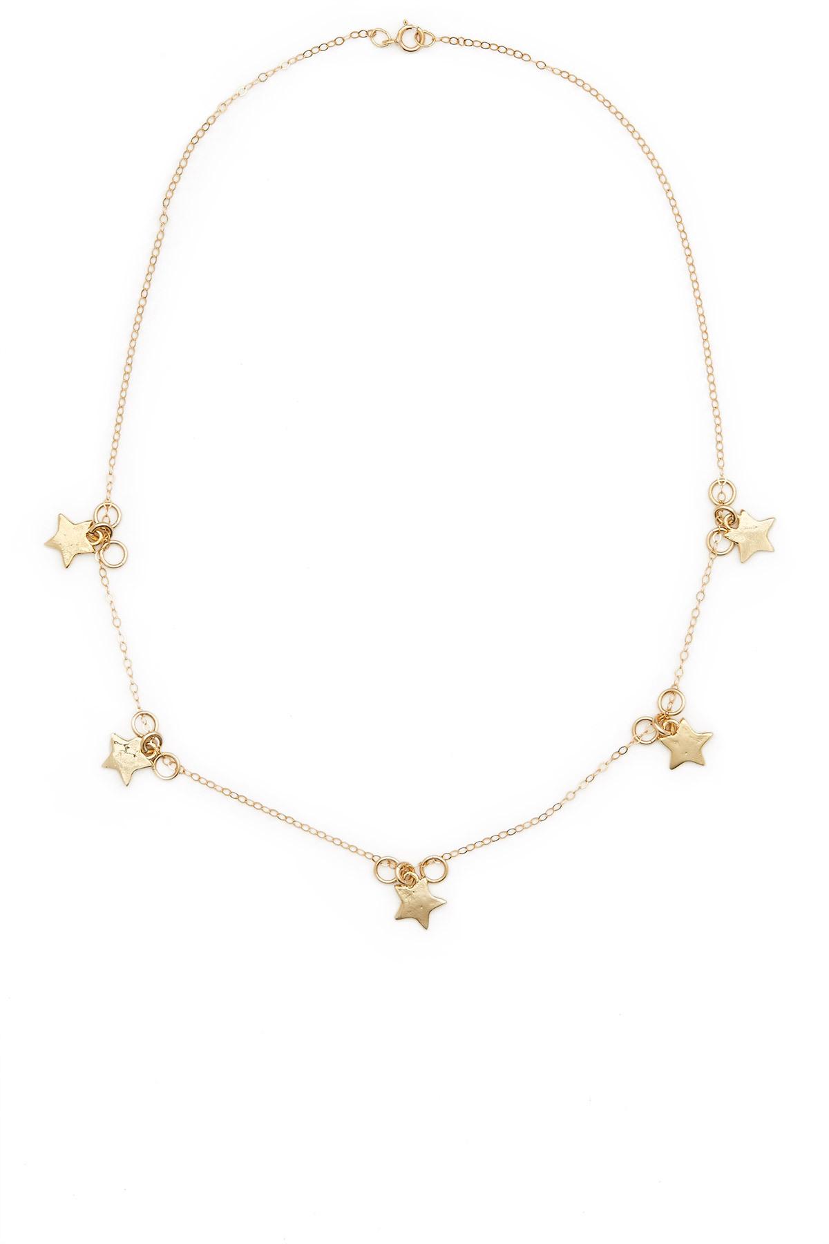 b0d7b37b30a Klä din ståtliga hals i stjärnor i guld från Opening Cermony. TRENDIG  silvermåne från Bluebillie