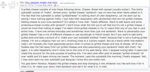 Hårda och extremt uppröstade ord av redditanvändaren Fuck_Blue_Shells