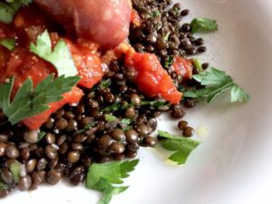 Salsicce con lenticchie