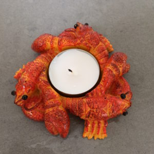 crayfish candle holder