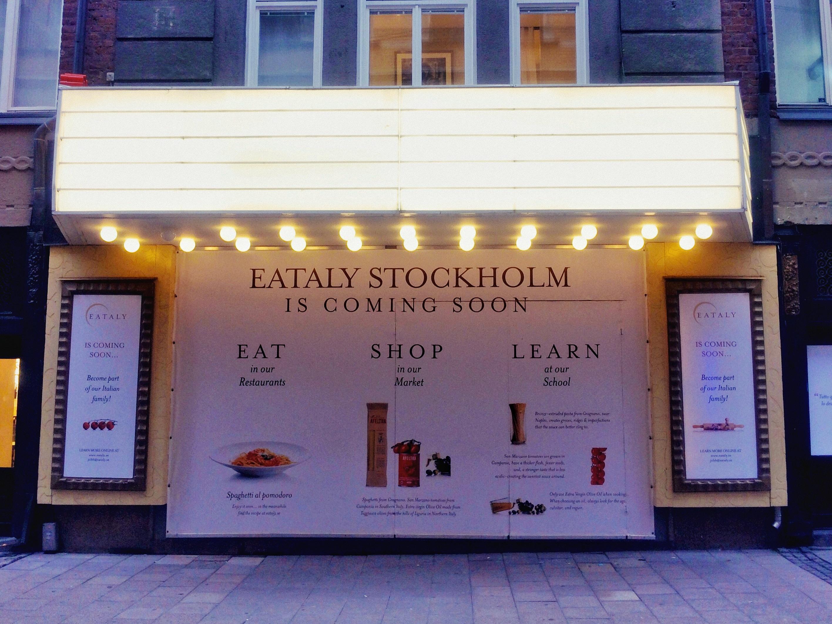 Eataly Stockholm öppnar i årsskiftet