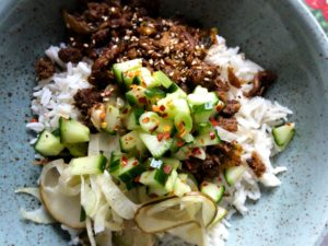 Bulgogi pulled oats med shiitakesvamp