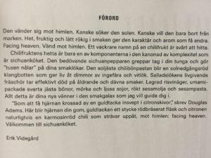 Förord ur Facing Heaven av Erik Videgård