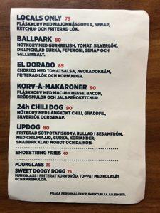 Dogfood meny