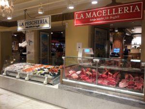 Eataly Stockholm: köttdisken och fiskdisken