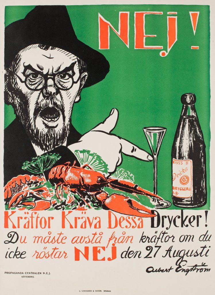 Kräftskivans historia: albert engström kräftor kräfva dessa drycker 1922