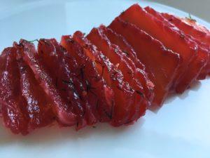 rödbetsgravad lax