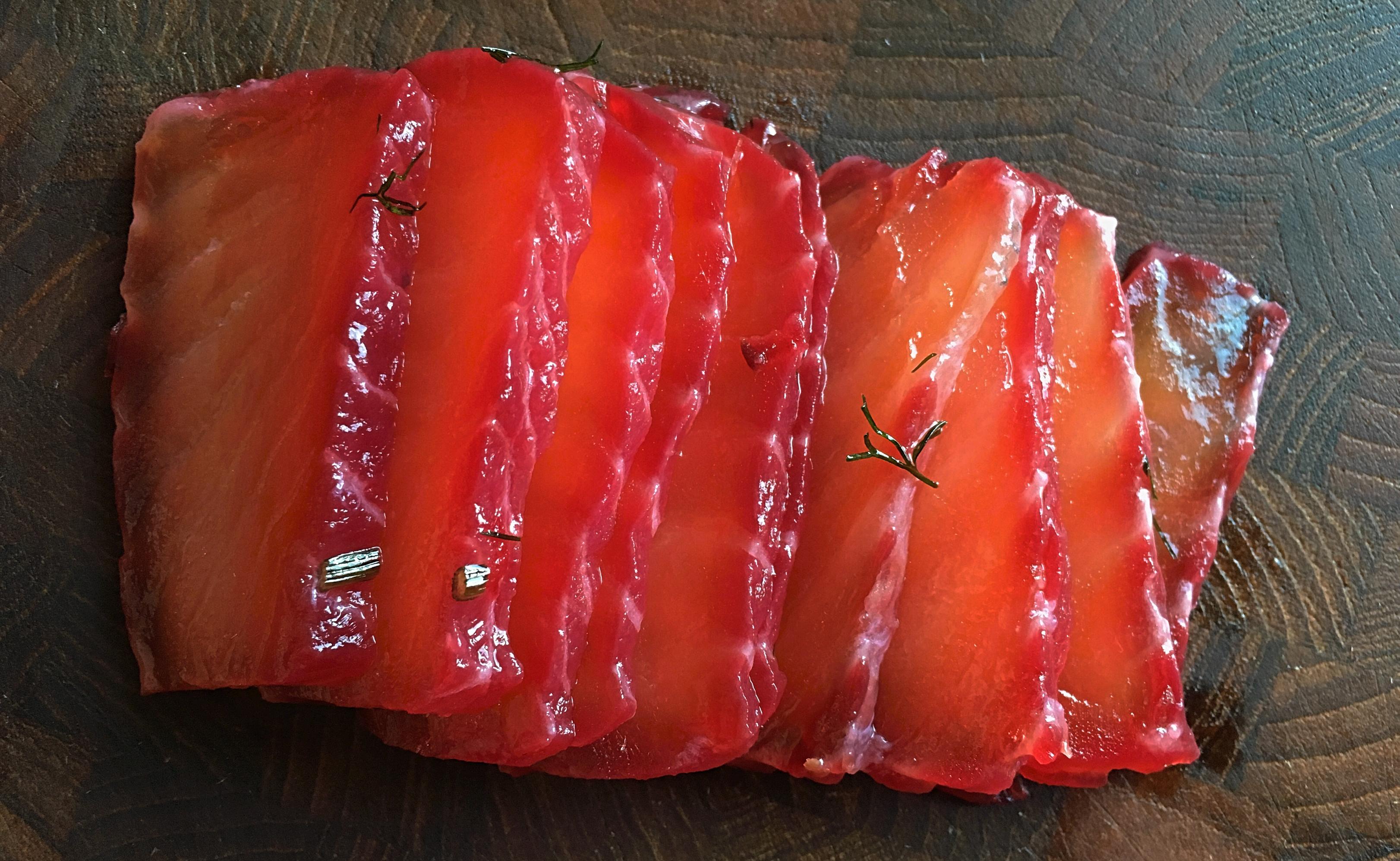 2 gånger gravlax: rödbetsgravad lax