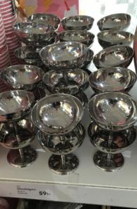 Coupeglas i metall för glass från Lagerhaus